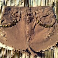 Vintage Wrangler Denim High Waist Cut off by UnraveledClothing