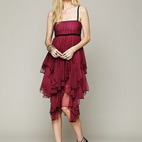 Free People FP ONE  Mesh Tiered Dress