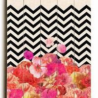 Arte - Chevron Flora : Posters and Framed Art Prints Available