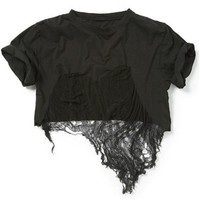 shredded cropped tee