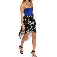 BlackRoyal Floral Hi Lo Dress