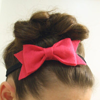 Magenta Bow Headband by lovelovelovedesigns on Etsy