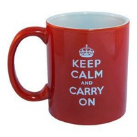 11 oz. Keep Calm And Carry On Coffee Mug by Office Mugs