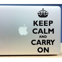 Keep Calm and Carry on - Macbook, Laptop Vinyl Wall Art Decal Sticker Decor