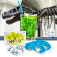 FOSSILICED DINOSAUR  ICE CUBE TRAYS -  SET OF 2