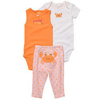 Carters 3 Piece Girls' Crab Set - Pink (Preemie)