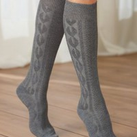 Amazon.com: Cable Knit Socks, Assorted 2: Clothing