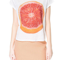 FRUITS T-SHIRT - T-shirts - TRF - ZARA United States