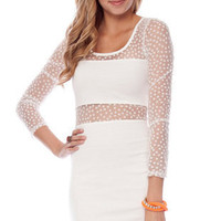 Show Your Spots Dress in White :: tobi
