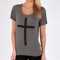 Project Social T Juniors Cross Print Tee at Von Maur