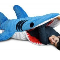 Amazon.com: Chumbuddy 3 Shark Adult Size Sleeping Bag and Designer Plush Figure by Patch Together: Toys & Games
