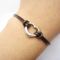 Lover Braceletantique silver little love heart by lightenme