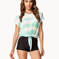 Watercolor Striped Top