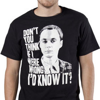 Wrong Sheldon Cooper T-Shirt