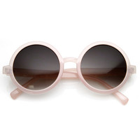 Cute Summer Pastel Color Retro Round Sunglasses 8755