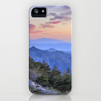 Alayos mountains at sunset iPhone & iPod Case by Guido Montañés