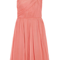J.Crew Lucienne one-shoulder silk-chiffon dress – 66% at THE OUTNET.COM