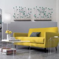 CB2 - weeds wall art