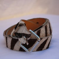 Zebra print leather belt by gosiadalbydesigns on Etsy