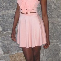 Peach Crop Top Cutout Dress. Summer Dress from TheRecessionista