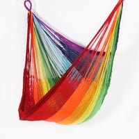 Hanging Chair Hammock: Rainbow Stripe by Yellow Leaf with Free Shipping