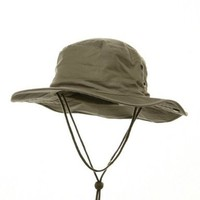 Fishing Hat (01)-Khaki W10S32F:Amazon:Clothing