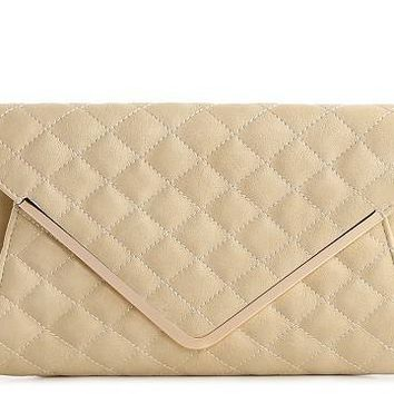 Urban Expressions Jolene Quilted Envelope Clutch