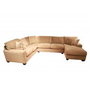 JONATHAN LOUIS BELLA LICHEN LUXURY SUEDE SECTIONAL - Sectionals - Living Room Gallery Furniture