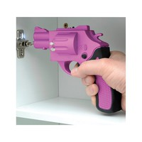 Revolver Shaped Screwdriver Rechargeable With Drill Bits