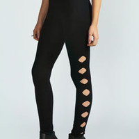 Tara Diamond Cut Out Jersey Leggings