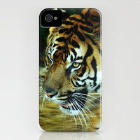 Tiger Burning Bright iPhone Case by Rebecca A Sherman | Society6