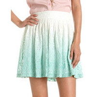 Dip-Dye Floral Lace Skirt: Charlotte Russe