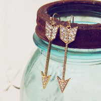 Stolen Arrow Earrings, Sweet Turquoise Jewelry