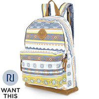 Navy aztec print backpack - backpacks - bags / wallets - men