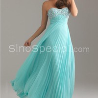 Attractive A-line Scoop Neckline Empire Waistline Floor Length Chiffon Homecoming Dress -SinoSpecial.com