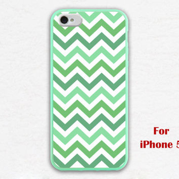 iPhone 5 Case, Chevron iphone 5 case, mint green checron, geometric graphic iphone 5 case