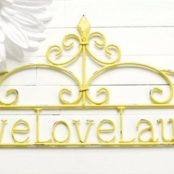 Home Decor Sign / Live Love Laugh Sign / Wall Hanging / Outdoor