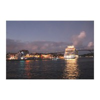Willemstad Curacao - Queen Juliana Bridge at Night Canvas Print from Zazzle.com