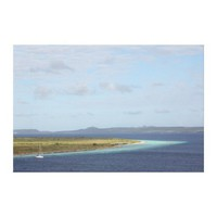 Klein Bonaire islet in the Caribbean Gallery Wrapped Canvas from Zazzle.com
