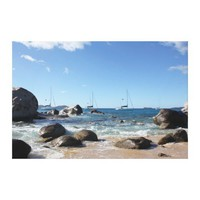 Sailing Boats at the Baths, BVI Stretched Canvas Print from Zazzle.com
