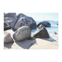 The Baths on Virgin Gorda, BVI Gallery Wrapped Canvas from Zazzle.com