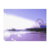 Santa Monica Pier - Sparkling Purple Photo Edit Stretched Canvas Prints from Zazzle.com