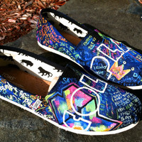 Made to Order Custom Painted TOMS Coldplay by TheMermaidsChest