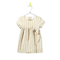 striped dress with bow - Dresses - Baby girl - Kids - ZARA United States