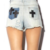 Faux Leather Cross Cut Offs | FOREVER 21 - 2000050914