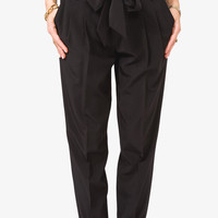 High-Waisted Trousers w/ Belt | FOREVER21 - 2027704506