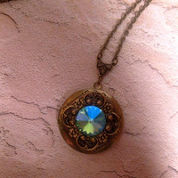 Atlantis Sea Swarovski element Crystal Locket