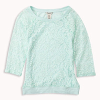 Lace Raglan Top | FOREVER 21 - 2048491210
