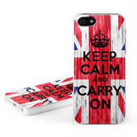 Apple iPhone 5 Hard Case - Keep Calm - Grunge by DecalGirl Collective