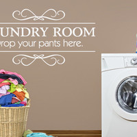 Laundry Room Wall Decal - Vinyl Decor Art